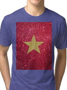 Sparkly gold star:) Tri-blend T-Shirt