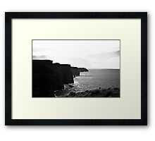 Ireland in Mono: Reality Scares Me Framed Print