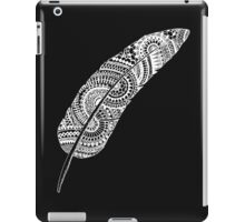 Feather zentangle white and black - OneMandalaaDay iPad Case/Skin