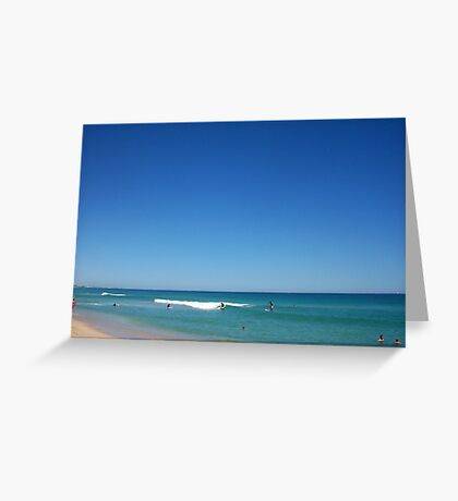 Surfer At Triggs 30 09 12 - 04 Greeting Card