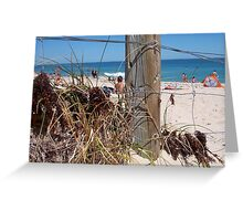 Brighton Fence Three 30 09 12 Greeting Card