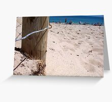 Brighton Fence Two 30 09 12 Greeting Card