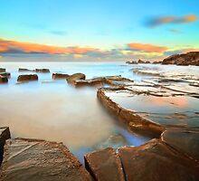 Sunset on The Rocks - Forresters Beach by Jacob Jackson
