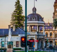 Beautiful Bendigo Icons at Sunset Sticker