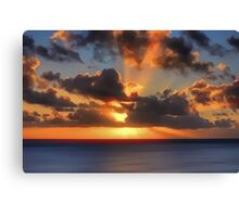 Sunburst Evening (Digital Art) Canvas Print