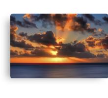 Sunburst Evening (Digital Art) Canvas Print