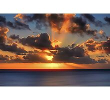 Sunburst Evening (Digital Art) Photographic Print