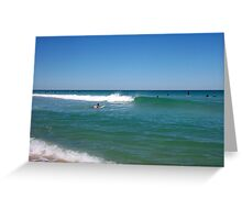 Alex And A Perfect Wave 30 09 12 Greeting Card