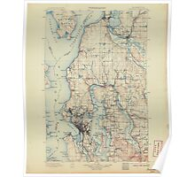 USGS Topo Map Washington State WA Seattle 243635 1897 125000 Poster