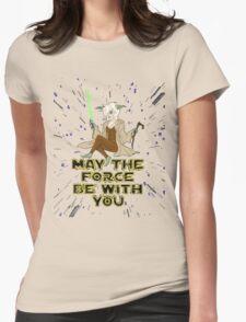 Jedi Mistress Yoda Womens Fitted T-Shirt