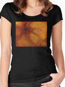 Organic, Orange Women's Fitted Scoop T-Shirt