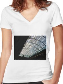 Architectural silhouette Women's Fitted V-Neck T-Shirt