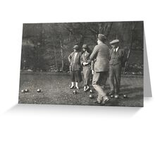 Bowling 1923 Greeting Card