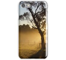 Sunrise over the vines iPhone Case/Skin
