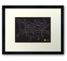 Pac Man Tube map Framed Print