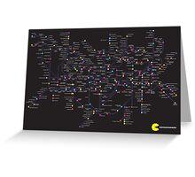 Pac Man Tube map Greeting Card