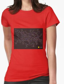 Pac Man Tube map Womens Fitted T-Shirt