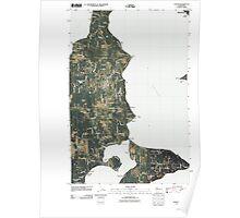 USGS Topo Map Washington State WA Vashon 20110519 TM Poster