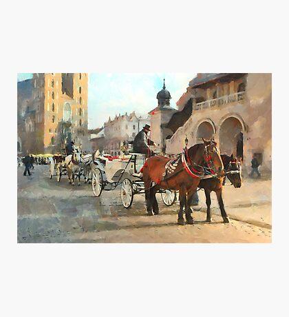 Krakow cabs Photographic Print