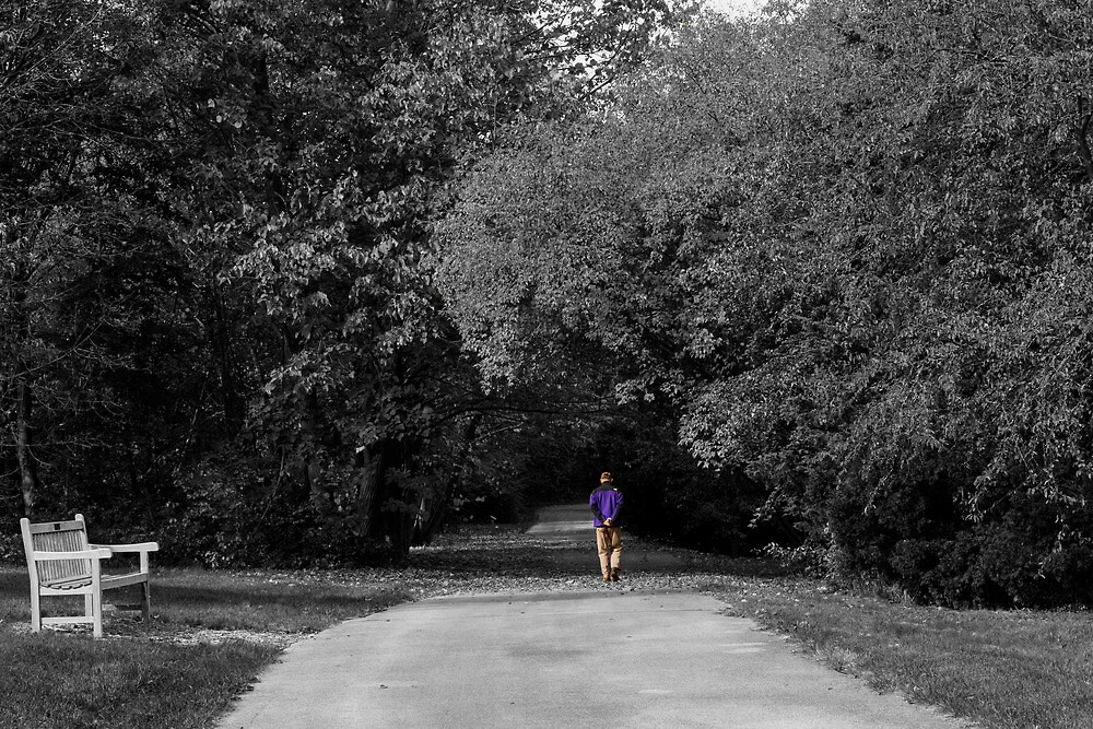 Lonely walk by hugamikey