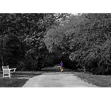 Lonely walk Photographic Print