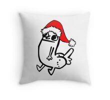 Christmas dickbutt Throw Pillow
