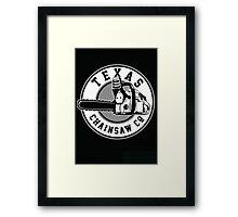Texas Chain saw Massacre 'Texas Chain saw Company logo'  Framed Print