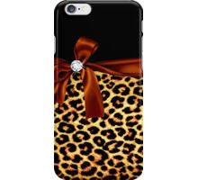 Elegant Animal Print Faux Diamond iPhone Case/Skin