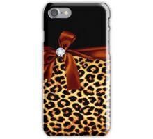 Elegant Animal Print Faux Diamond iPhone Case/Skin