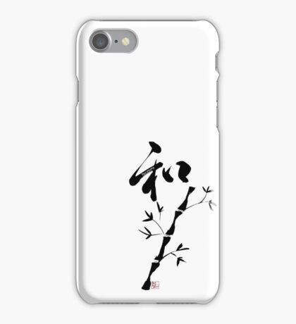 "Japanese Kanji for ""Harmony"" and bamboo  iPhone Case/Skin"