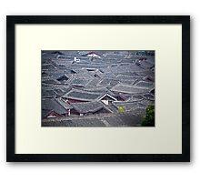 Chinese Village Framed Print
