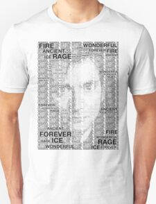 Dr Who 10th David Tennant Typography T-Shirt