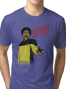 Klingon MotherF**ker Do You Speak It?! Tri-blend T-Shirt