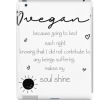 Soul Shine Vegan iPad Case/Skin