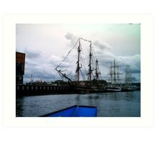 tall ship 6 Art Print