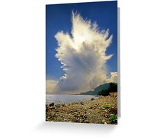 Cumulonimbus Incus Cloud Rising Greeting Card