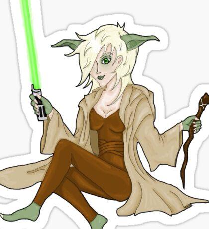 Jedi Mistress Yoda Sticker