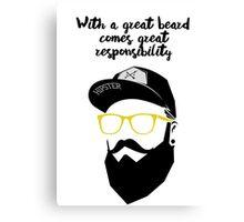Beard Quote Canvas Print