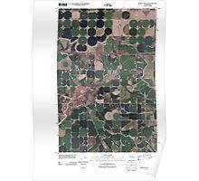 USGS Topo Map Washington State WA Bassett Junction 20110425 TM Poster