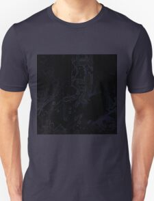 Uneven developed Church in blue and black T-Shirt