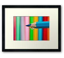 pencil droplet Framed Print