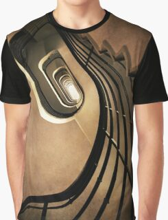 Spiral staircase in brown tones Graphic T-Shirt