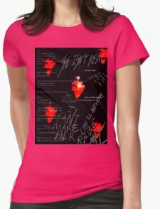 Red Vermillion  Womens Fitted T-Shirt