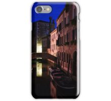 Venice, Italy - Nightscape on a Small Canal iPhone Case/Skin