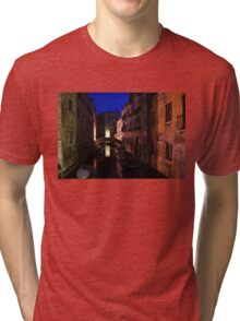 Venice, Italy - Nightscape on a Small Canal Tri-blend T-Shirt