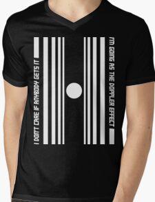 The Doppler effect - White on black Mens V-Neck T-Shirt