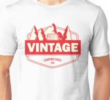 Vintage camping since 1965 - red Unisex T-Shirt