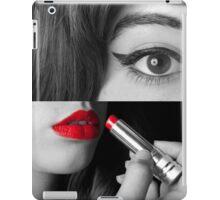 Teen girl applying make up iPad Case/Skin