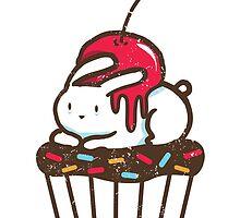 Chubby Bunny on a cupcake by Budi Satria Kwan