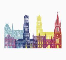 Bruges skyline pop Kids Clothes